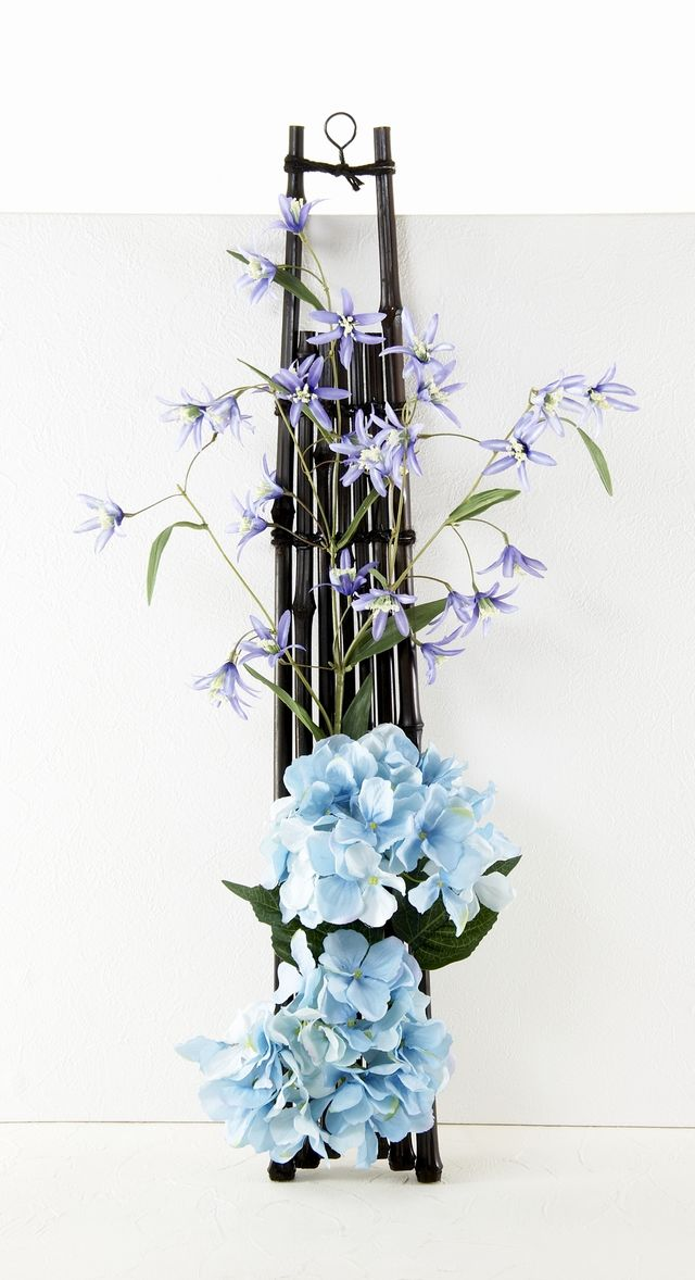 【造花和風ハンギングアレンジ】和歌-Waka