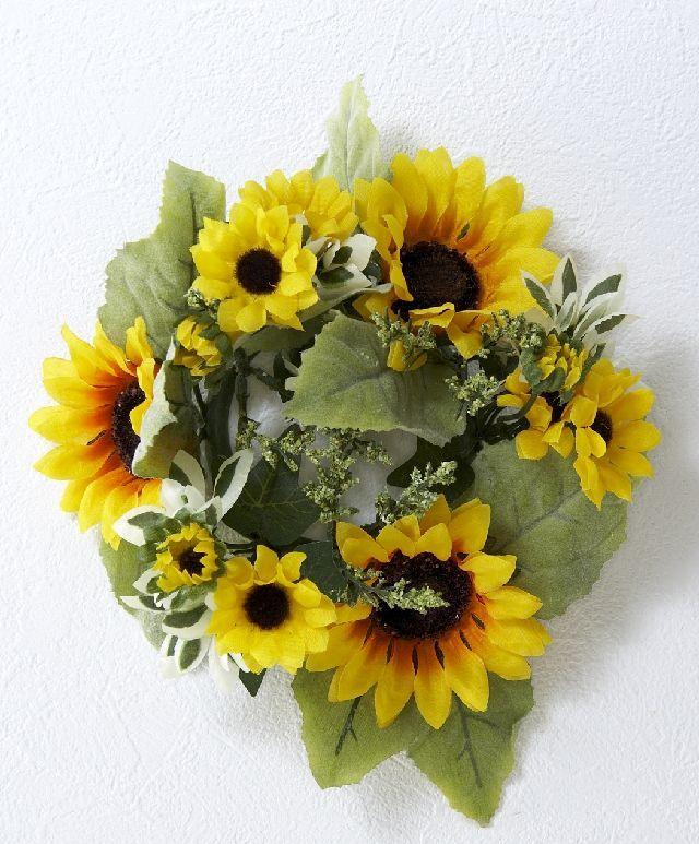 【造花リース】サンフラワーリース