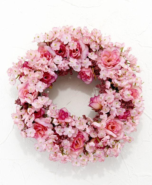 【造花リース】フェアリーローズ・リース(ピンク)
