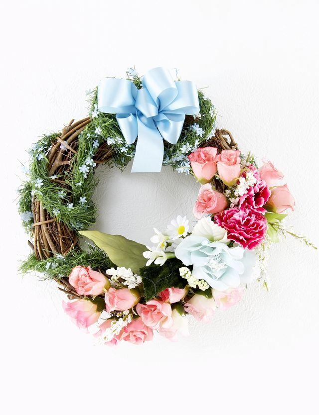【造花オリジナルリース】フローレンス