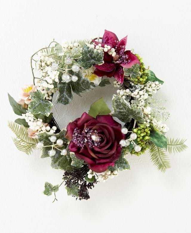 【造花オリジナルリース】オデット