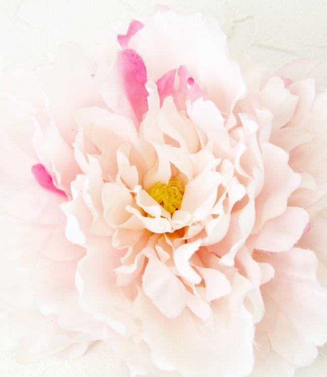 【コサージュ&髪飾り・2WAYタイプ】シャクヤク/ピンク