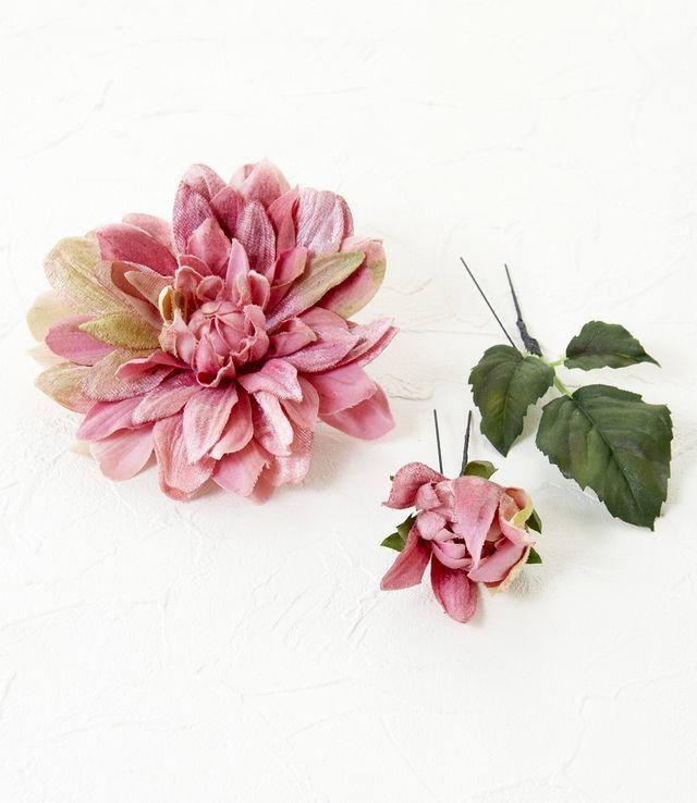 【コサージュ&髪飾り・2WAYタイプ】サマルクダリア/ピンク