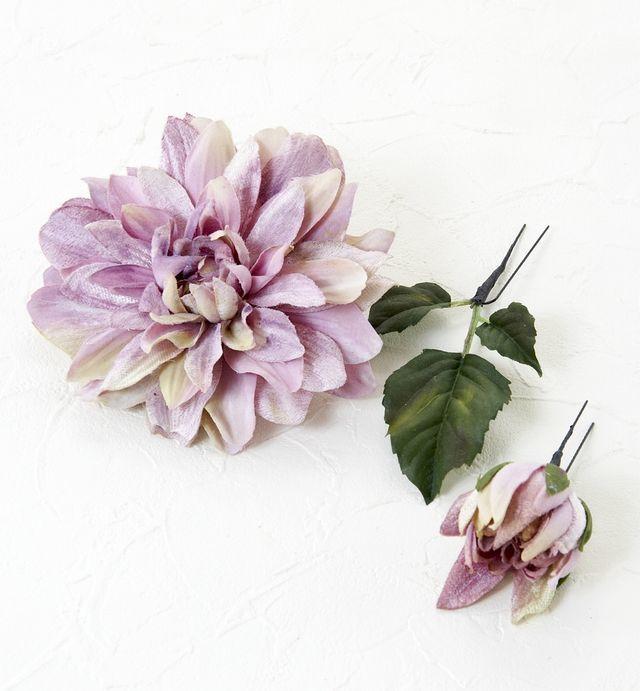 【コサージュ&髪飾り・2WAYタイプ】サマルクダリア/パープル