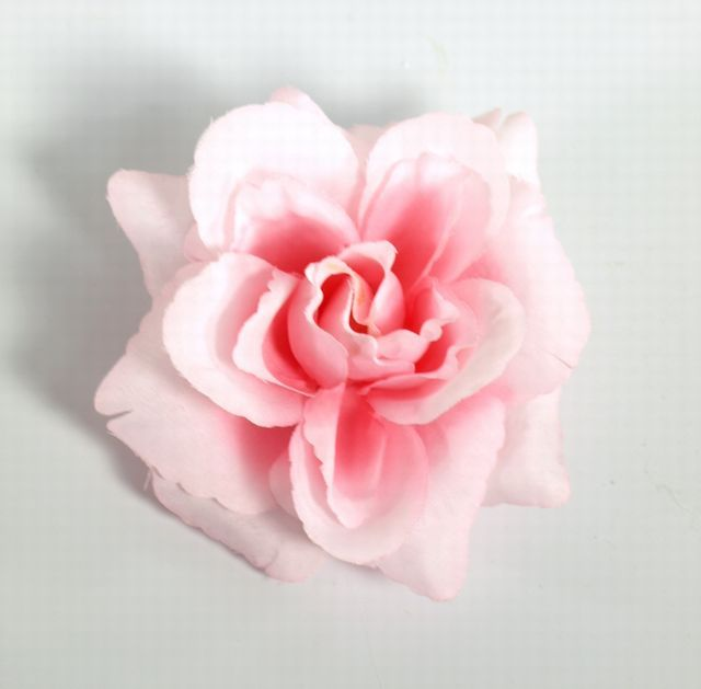 コサージュ&髪飾り(両用タイプ)(ピンクバラ)