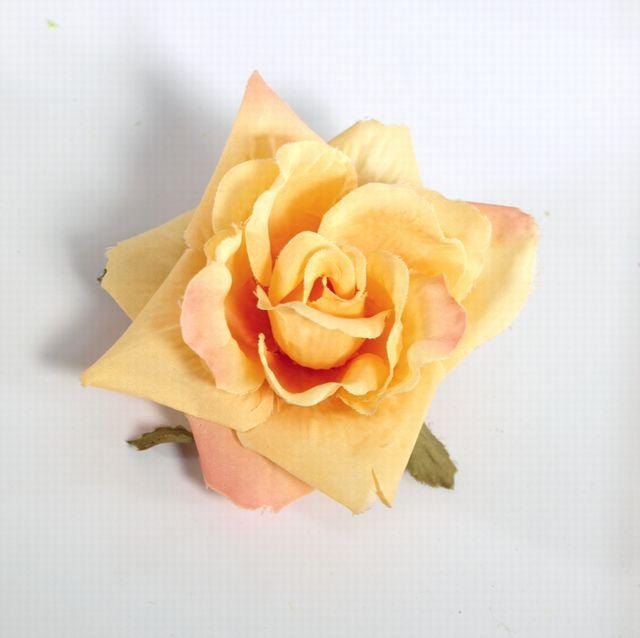 コサージュ&髪飾り(両用タイプ)(オレンジバラ)
