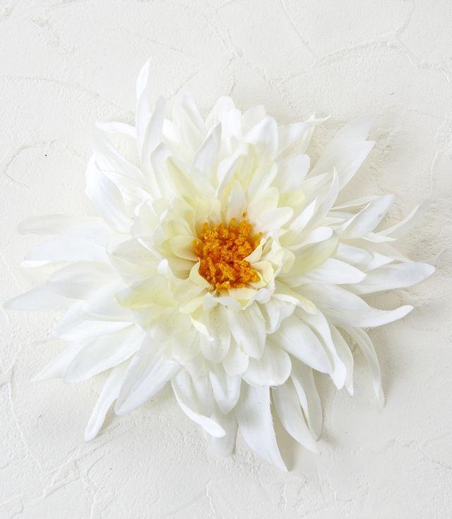 【コサージュ&髪飾り・2WAYタイプ】ファッションダリア/ホワイト