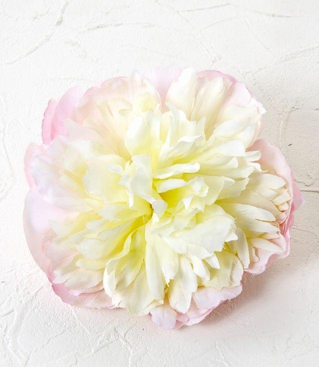 【コサージュ&髪飾り・2WAYタイプ】マシュマロピオニー/ホワイト×ピンク