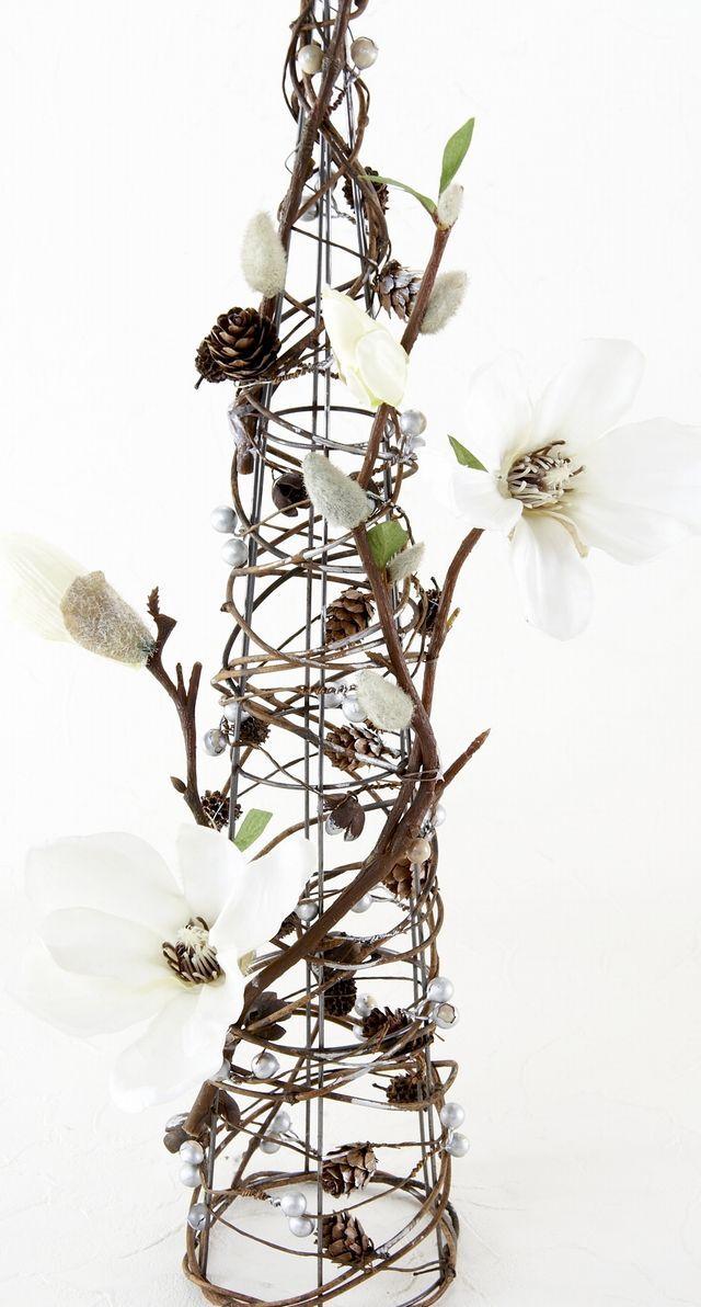 【造花アレンジメント・アーティフィシャルフラワーインテリア】コーンツリー・マグノリア