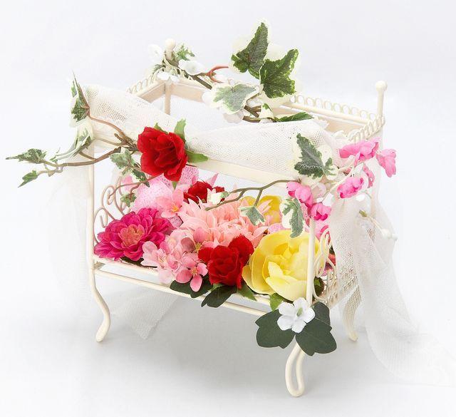 【造花フラワーベットアレンジメント】ドリーム