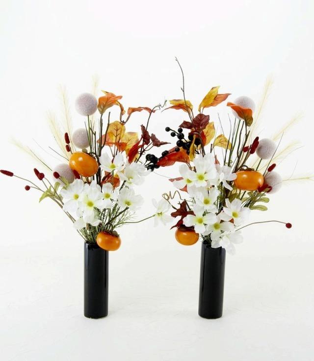 造花仏花・供花】秋のハイセンス造花・供花C-左右1対セット