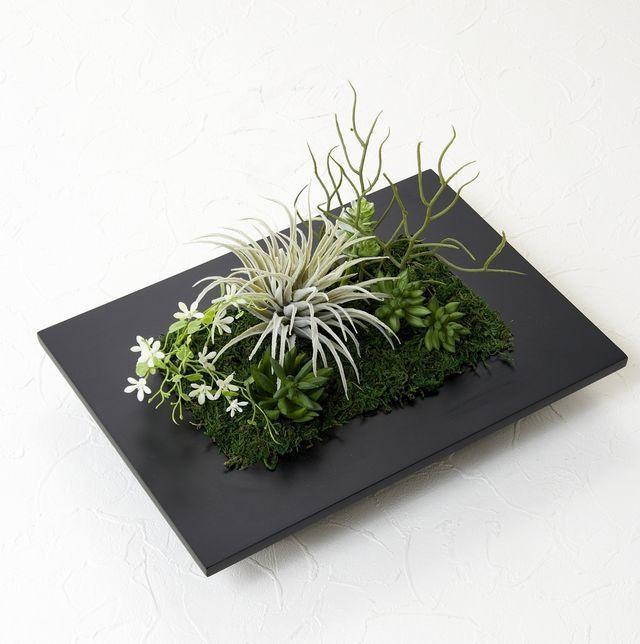 【スクエアフレーム 造花インテリアグリーン】フォリッジ・グリーン-LLサイズ