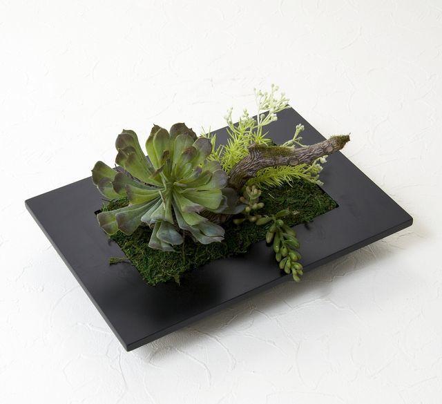 【スクエアフレーム 造花インテリアグリーン】パラキート・グリーン-LLサイズ