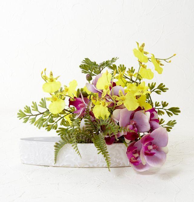 【造花・アートフラワーアレンジメント】アジアンオーキッド