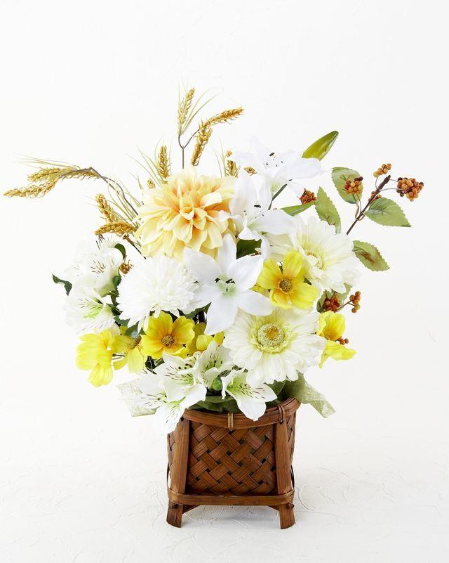 【造花・和モダン・和風アレンジメント】櫨染-hajizome