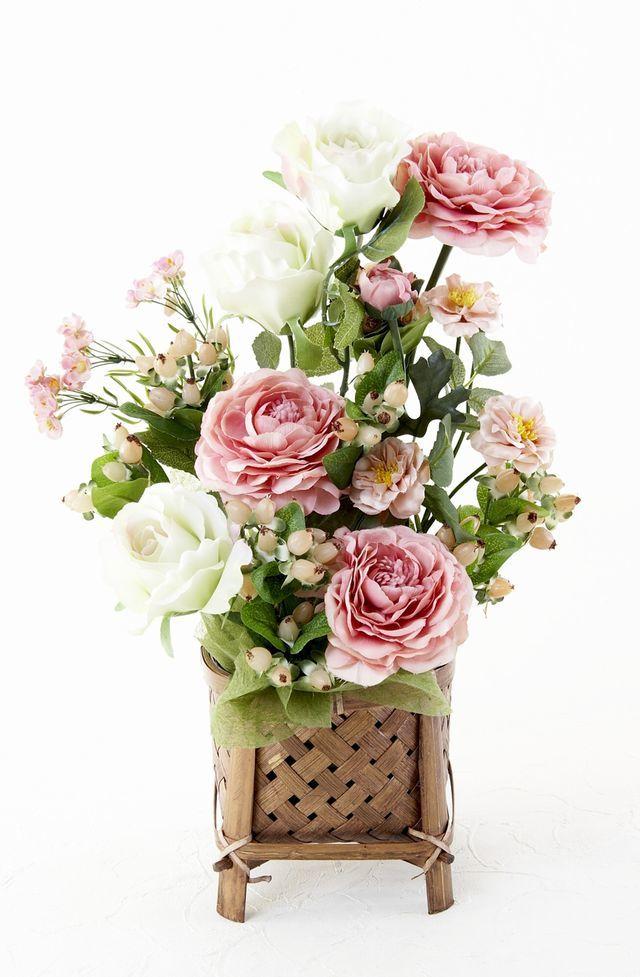 【造花・和モダン・和風アレンジメント】莉瑚-riko
