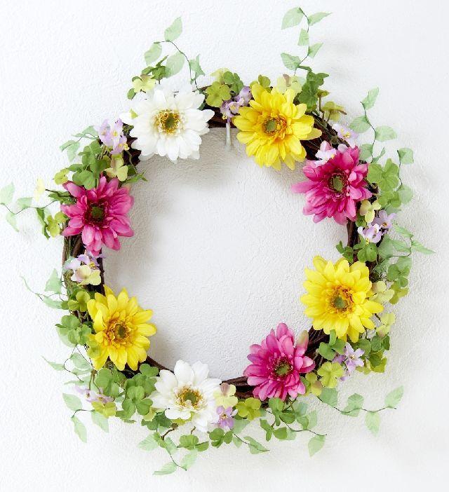 【造花 アーティフィシャルフラワー・オリジナルリース】メロディ
