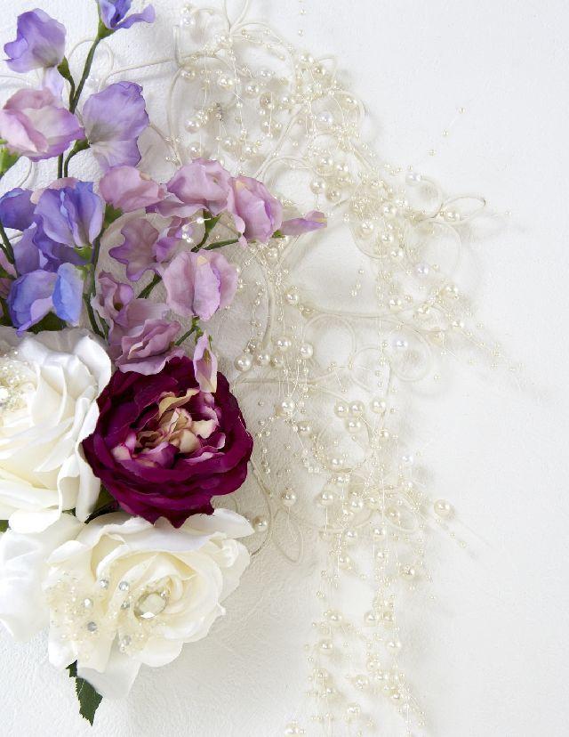 【造花 アーティフィシャルフラワー・オリジナルワイヤーベースリース】アナスタージア