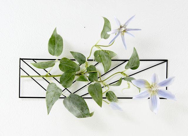 【造花 アーティフィシャルフラワー・オリジナルハンギング・ワイヤーベース壁掛けアレンジメント】美咲-みさき-