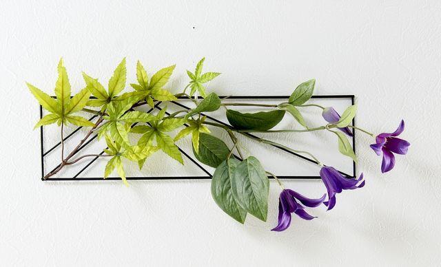 【造花 アーティフィシャルフラワー・オリジナルハンギング・ワイヤーベース壁掛けアレンジメント】喬姫-きょうき-