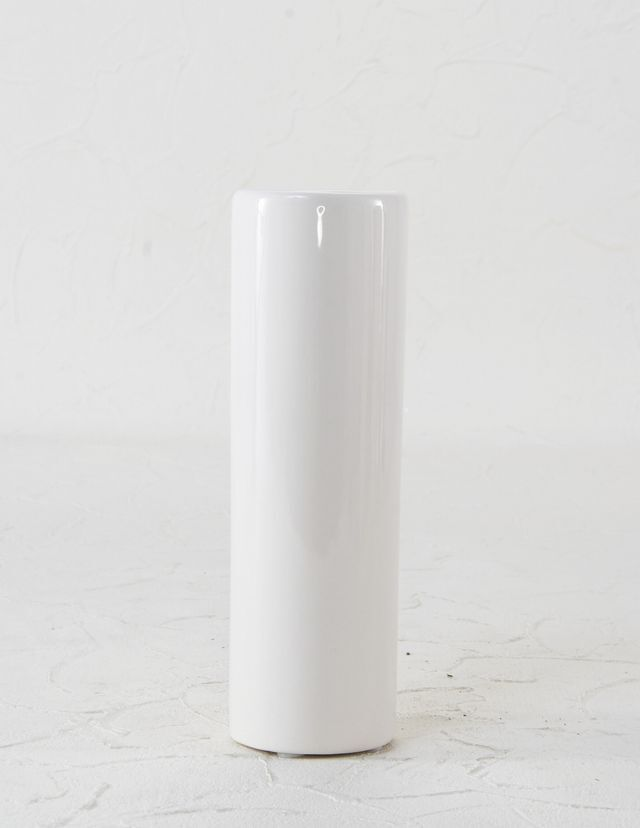 【造花用花器】ホワイトスリムフラワーベースS/白