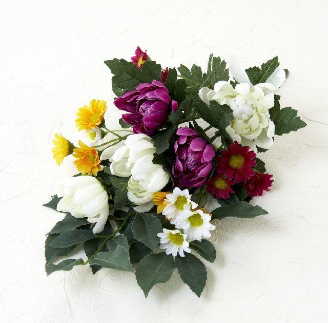 【墓前・仏前 造花仏花供花】メモリアル仏花B-1束(ブッシュタイプ)