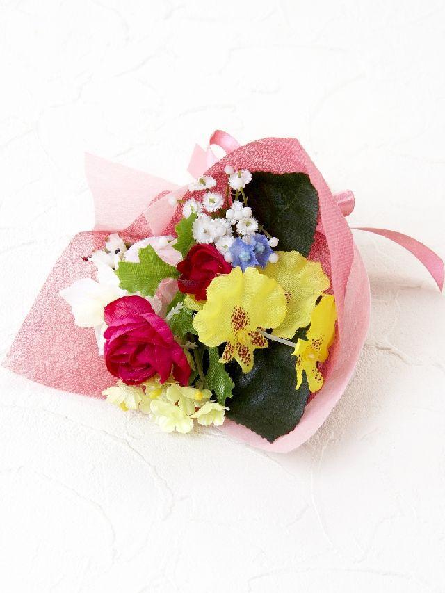 【造花ミニ花束】手のひらブーケ1
