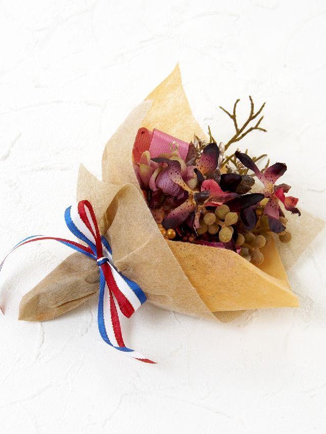 【造花ミニ花束】手のひらブーケ8