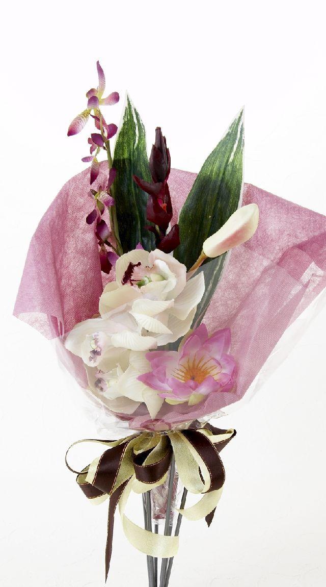 【造花・アーティフィシャルフラワー花束】light bouquet -Q