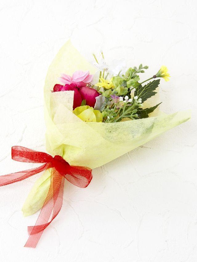 【造花ミニ花束】手のひらブーケ9