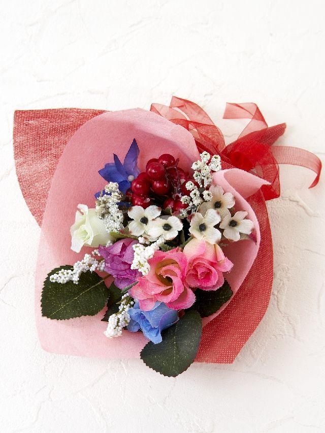 【造花ミニ花束】手のひらブーケ18