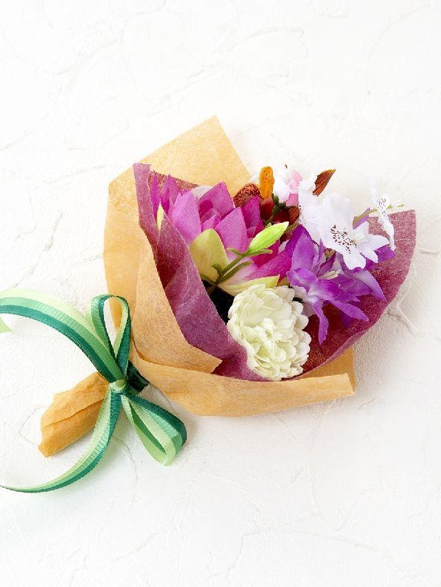 【造花ミニ花束】手のひらブーケ20
