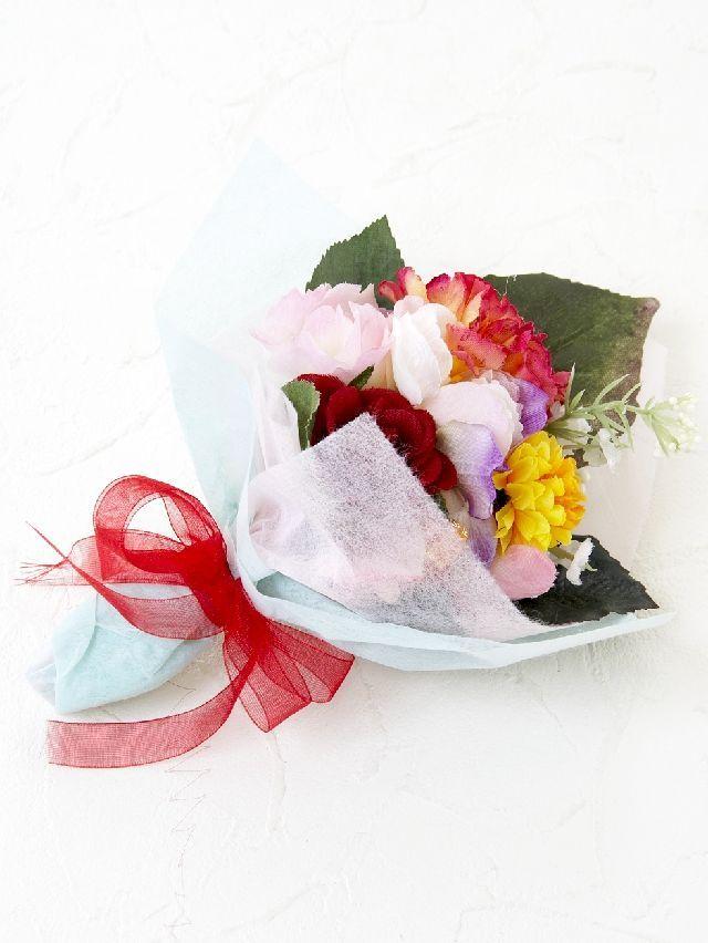 【造花ミニ花束】手のひらブーケ26