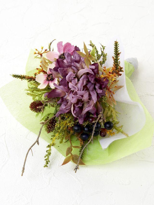 【造花ミニ花束】手のひらブーケ39