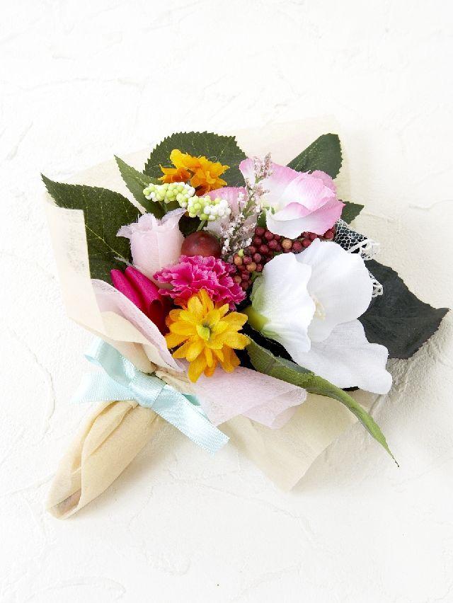 【造花ミニ花束】手のひらブーケ46