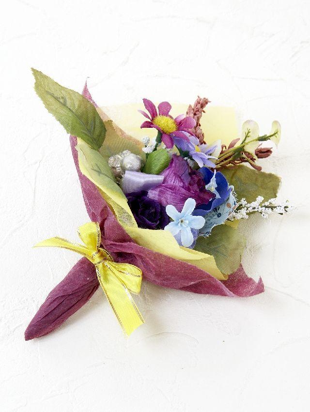 【造花ミニ花束】手のひらブーケ54