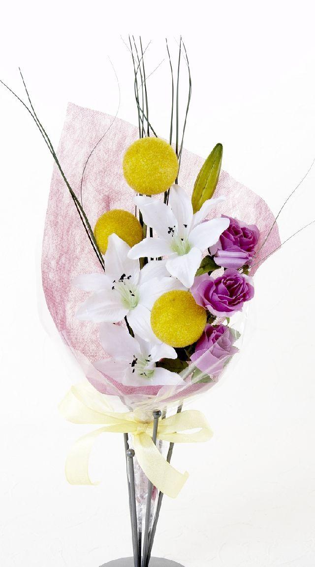 【造花・アーティフィシャルフラワー花束】light bouquet -G