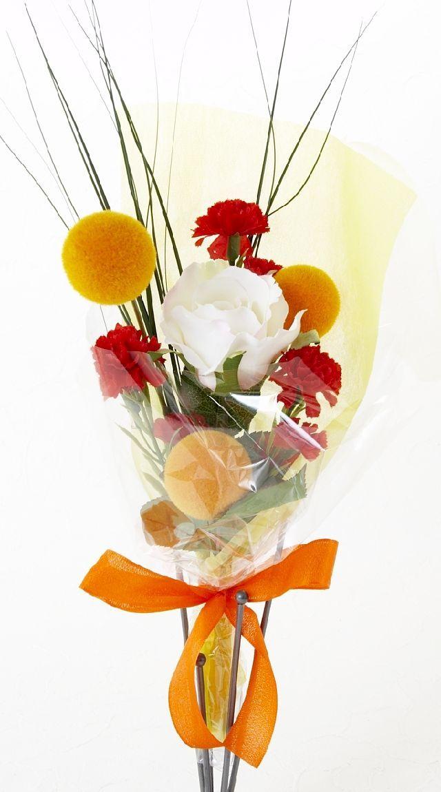 【造花・アーティフィシャルフラワー花束】light bouquet -F