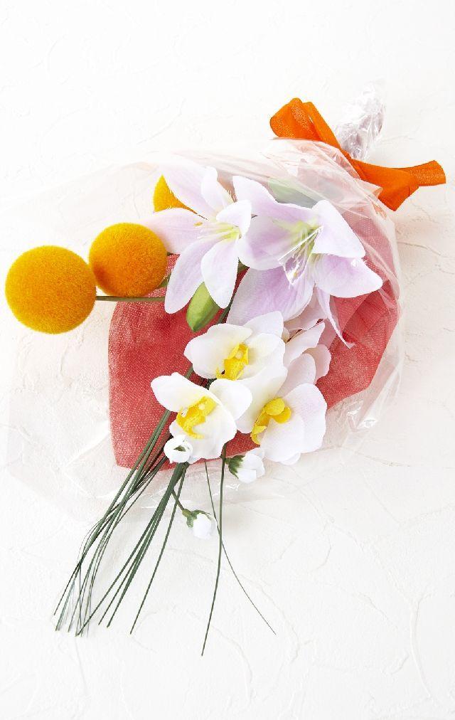【造花・アーティフィシャルフラワー花束】light bouquet - C