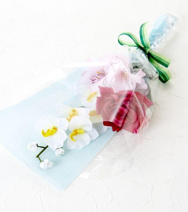 【造花・アーティフィシャルフラワー花束】light bouquet - B