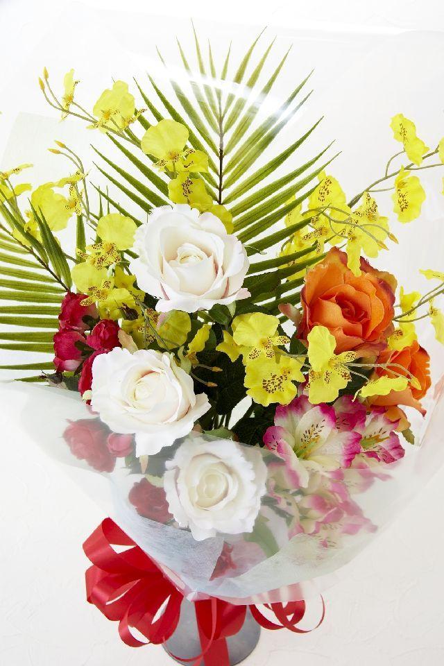 【贈答・贈呈用・ギフトの造花花束】フレッシュビタミンブーケ