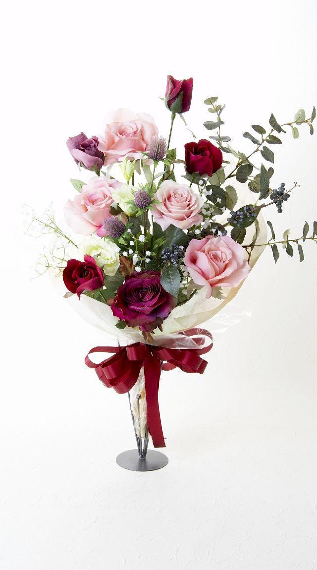 【贈答・贈呈用・ギフトの造花花束】ジュエルピンクサファイア・ブーケ