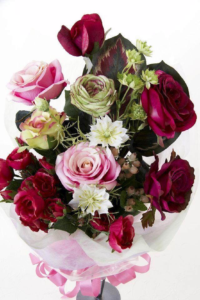 【贈答・贈呈用・ギフトの造花花束】ラズベリードリーム・ブーケ