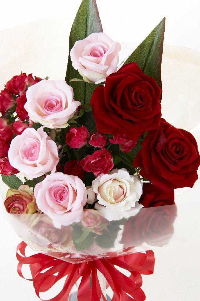【贈答・贈呈用・ギフトの造花花束】キューピットローズ・ブーケ