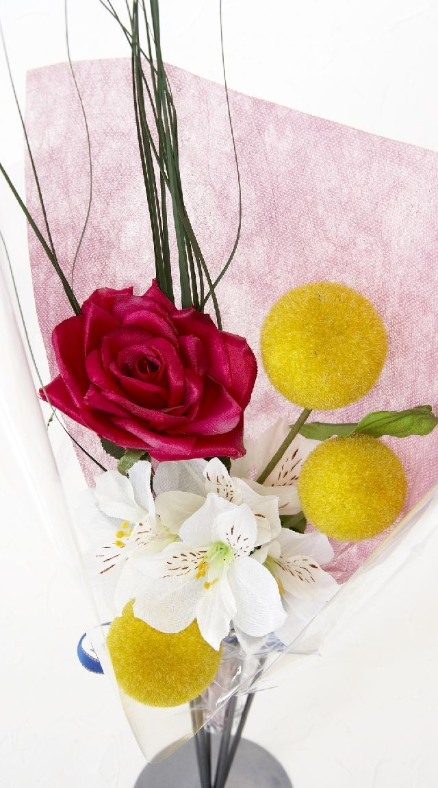 【造花・アーティフィシャルフラワー花束】light bouquet -L