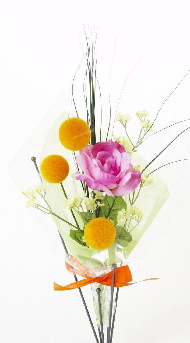 【造花・アーティフィシャルフラワー花束】light bouquet -N