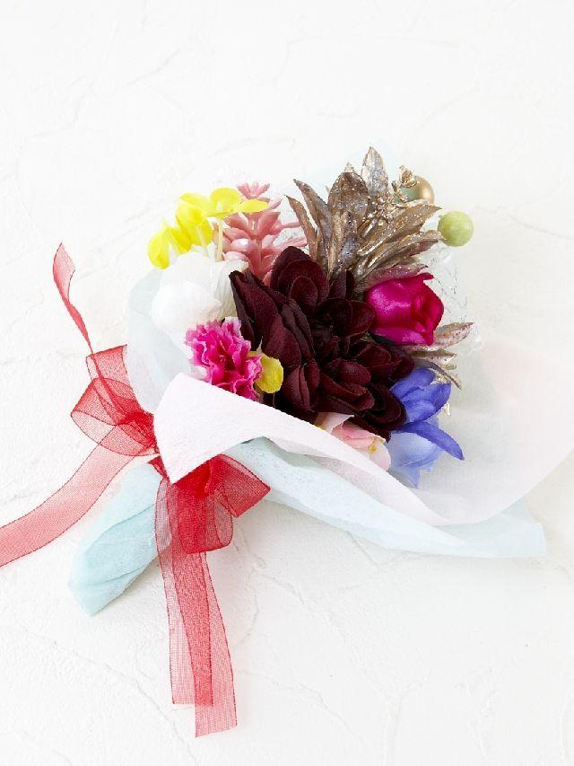【造花ミニ花束】手のひらブーケ2
