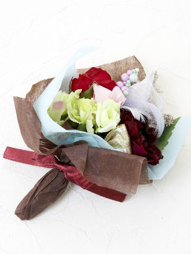 【造花ミニ花束】手のひらブーケ3