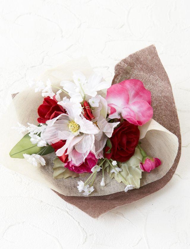 【造花ミニ花束】手のひらブーケ4