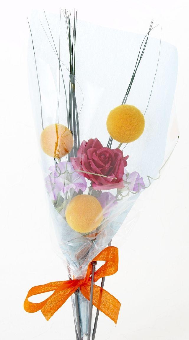 【造花・アーティフィシャルフラワー花束】light bouquet -P